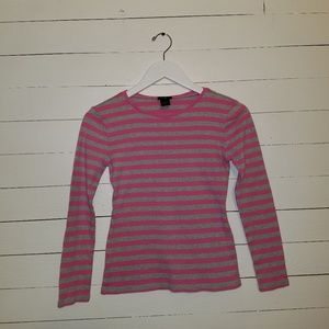 Grey and pink long sleeved tee by Ann Taylor